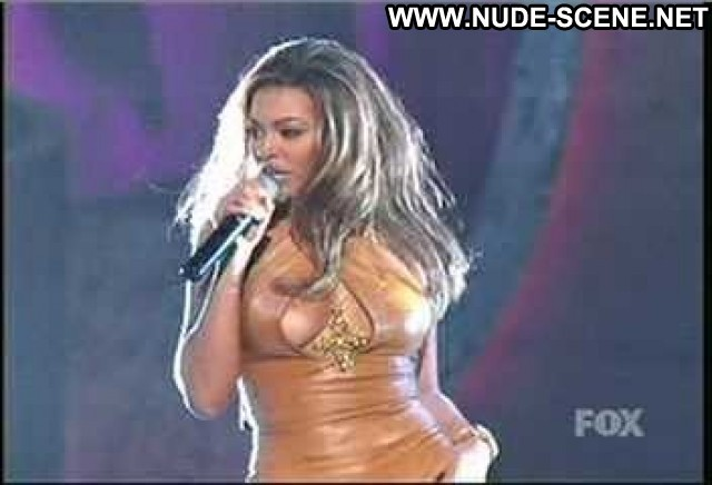 Beyonce Knowles No Source Leather Celebrity Big Tits Cleavage Breasts