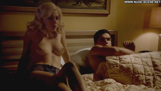 Elena Satine Magic City Couple Celebrity Breasts Big Tits Panties Bed