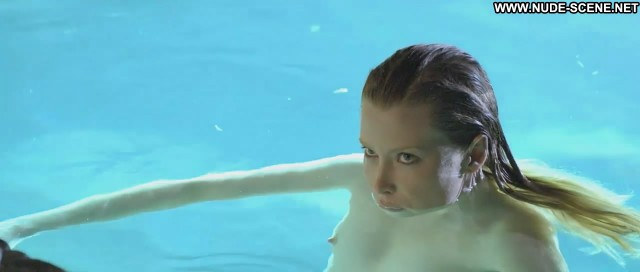 Emma Booth Swerve Breasts Celebrity Swimsuit Pool Big Tits
