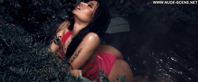 Nicki Minaj Anaconda Music Video Lap Dance Chair Swimsuit