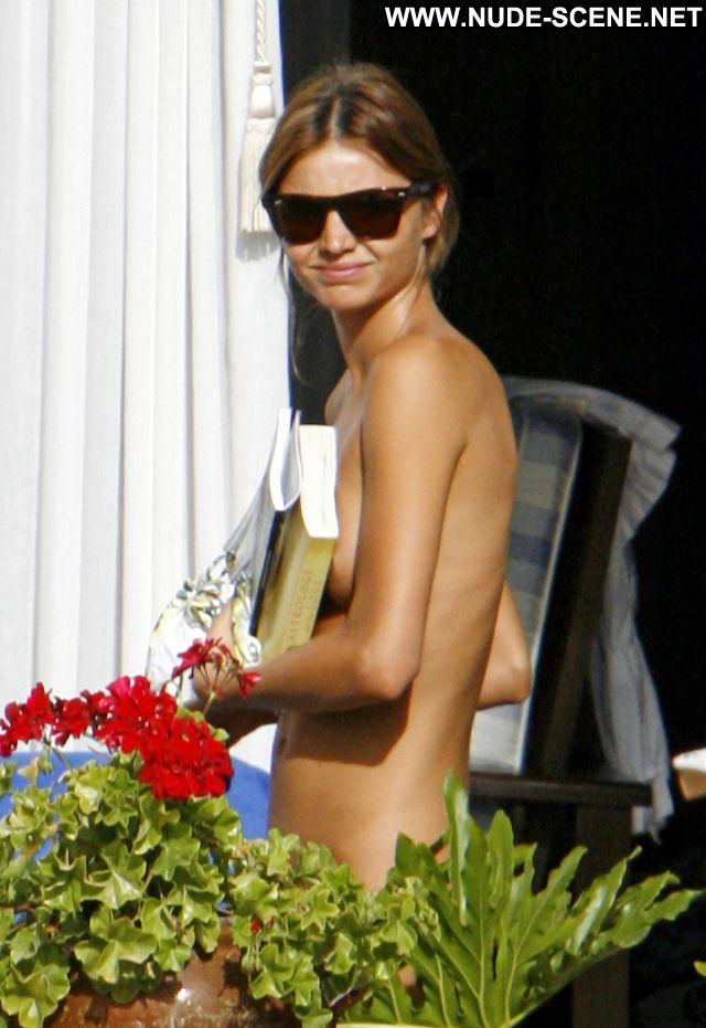 Miranda Kerr Nude Sexy Scene Outdoors Bikini Showing Tits