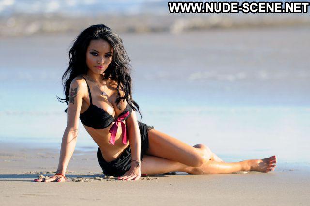 Tila Tequila Nipple Slip Beach Asian Big Tits Showing Tits