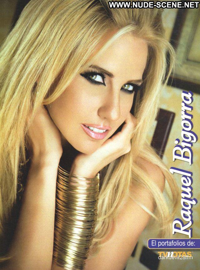 Raquel Bigorra Blonde Blue Eyes Blonde Babe Latina Celebrity Posing