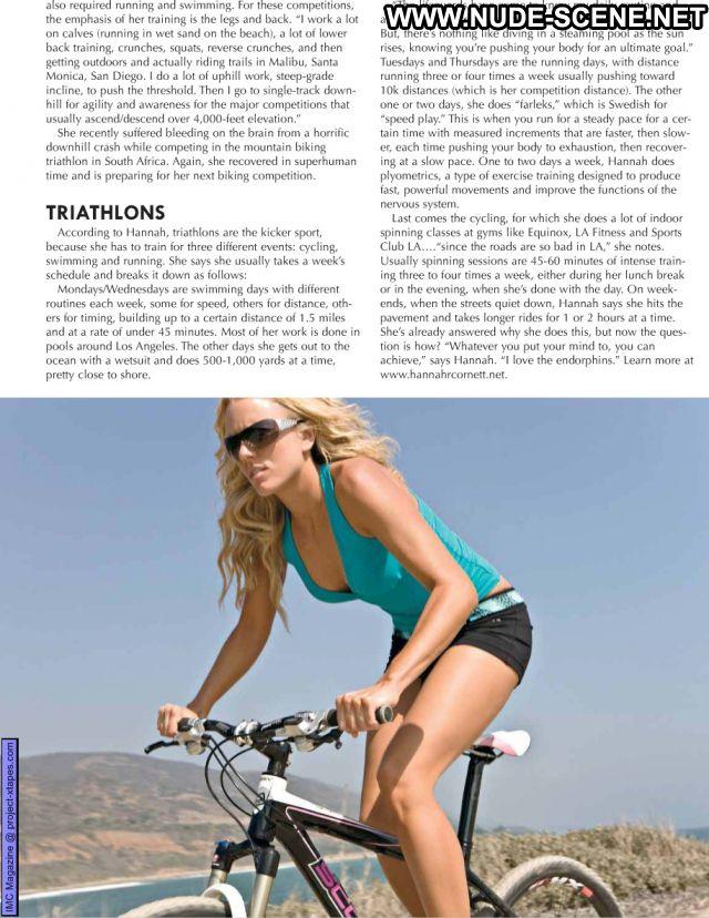 Hannah Cornett Bike Bikini Blonde Doll Beautiful Female Cute