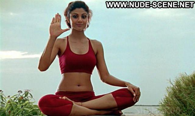 Shilpa Shetty Workout Brunette Showing Tits Nude Scene Cute