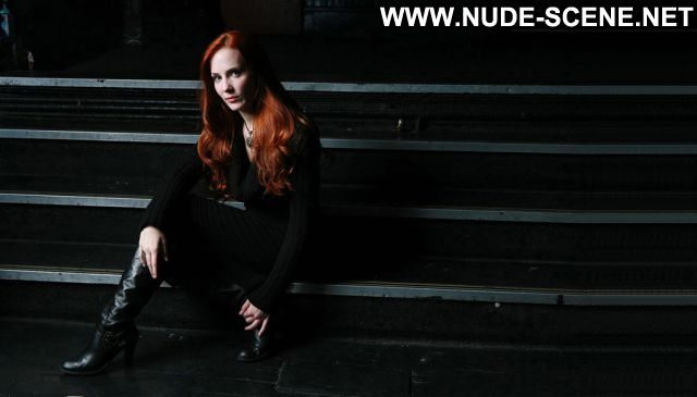 Simone Simons No Source Redhead Posing Hot Hot Celebrity Blue Eyes