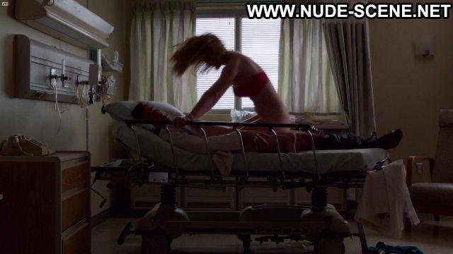 Betty Gilpin Nude Sexy Scene Nurse Jackie Doctor Uniform Hot