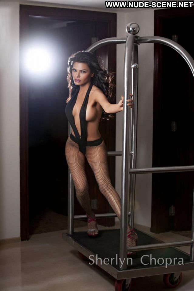 Sherlyn Chopra Famous Posing Hot Showing Tits Babe Actress