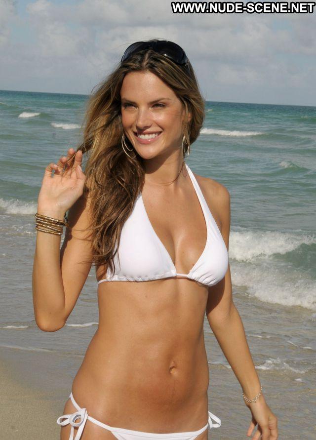 Alessandra Ambrosio No Source Bikini Celebrity Beach Posing Hot Nude