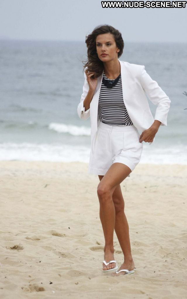 Alessandra Ambrosio No Source  Posing Hot Nude Beach Celebrity Brazil