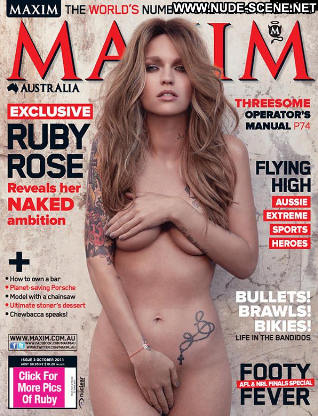 Ruby Rose E Love Beautiful Tits Babe Magazine Nude Posing Hot