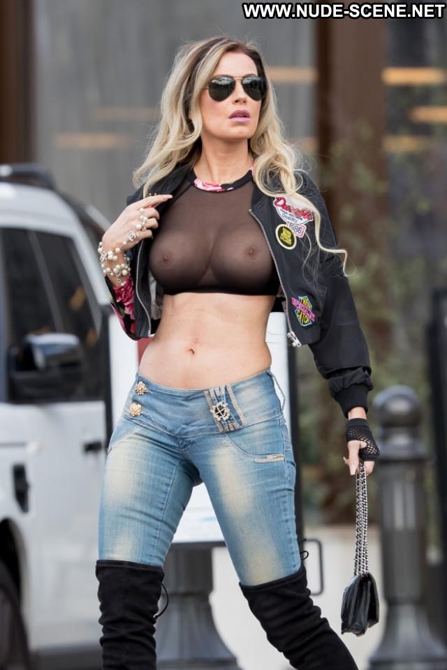 Celebrities Los Angeles Sexy Posing Hot Celebrity Bike Car Biker