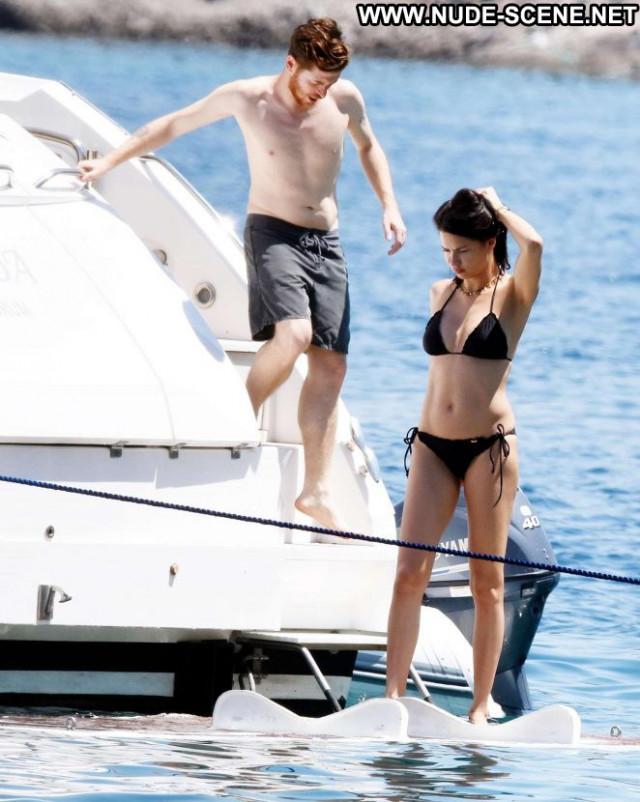 Bikini No Source Yacht Celebrity Beautiful Black Bikini Babe
