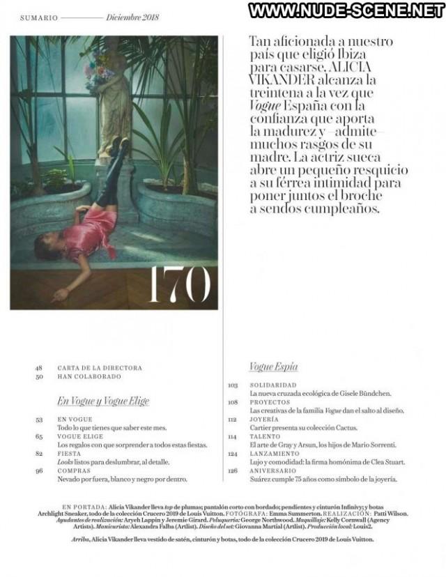 Alicia Vikander Vogue Spain Celebrity Spa Paparazzi Posing Hot Spain