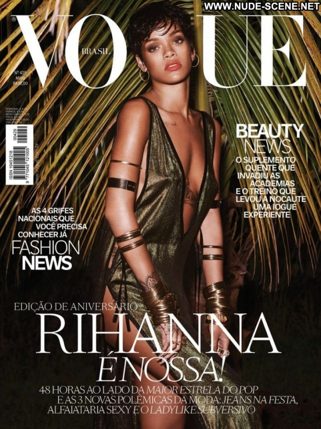 Rihanna Magazine Topless Gorgeous Retro Knickers Celebrity Singer