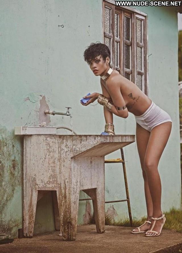 Rihanna Magazine Topless Gorgeous Celebrity Singer Knickers Retro