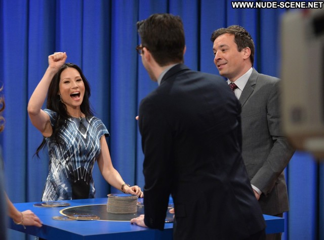 Lucy Liu Late Night With Jimmy Fallon Celebrity Nyc Posing Hot High