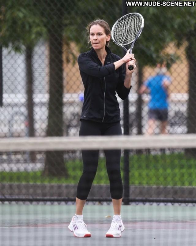 Hilary Swank New York New York Tennis Beautiful Black Celebrity High