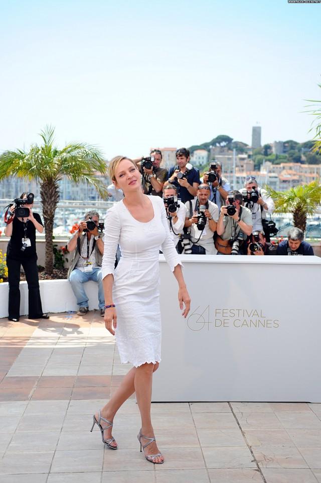 Uma Thurman Cannes Film Festival Posing Hot Celebrity Babe Beautiful