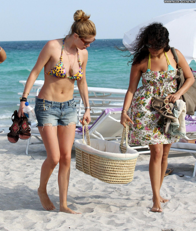 Doutzen Kroes Miami Beach Beautiful Beach Babe Celebrity High