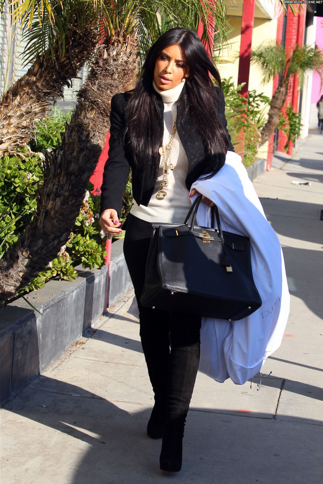 Kim Kardashian West Hollywood Celebrity Babe Candids Posing Hot