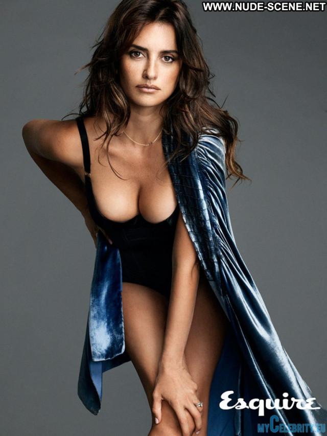 Penelope Cruz Esquire Magazine Beautiful Topless Magazine Photoshoot